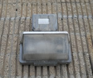 Previous exterior lighting used.