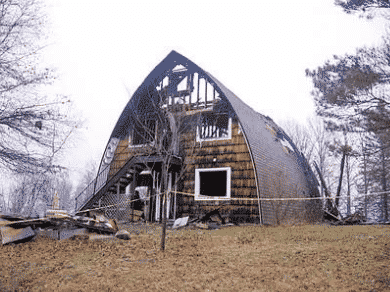 Aftermath of original building from fire in 2006.