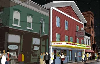 Artist's rendition of Rosendale Theatre Redesign in Rosendale NY